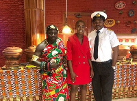 Fella Makafui [C] has been unveiled as Ambassador for Crystal Galaxy College