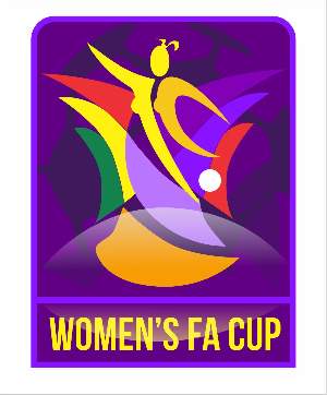 The logo depicts a skillful female footballer exhibiting her prowess in the beautiful game.
