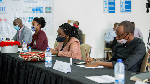 A panel of judges during the final pitching exercise in Kigali. Photo by Dan Nsengiyumva