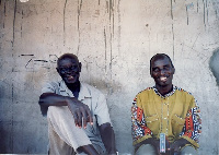 Socrate Sarfo and his late father