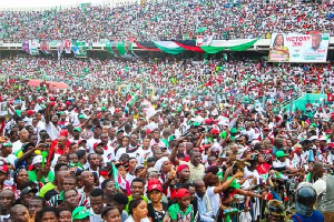 NDC supporters at a rally