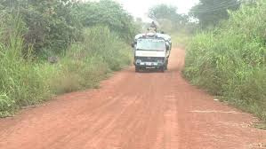 Farm roads are usually hard for vehicles to navigate in Ghana