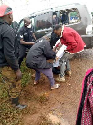 A judge travelling to Masindi High Court involved in an accident