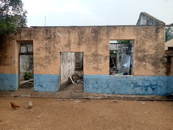 The current sate of the Akuse Police Station