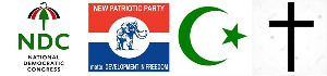File photo of the various political parties in Ghana