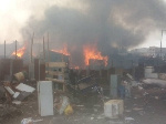 The fire outbreak occurred Sunday afternoon around 1:30 pm