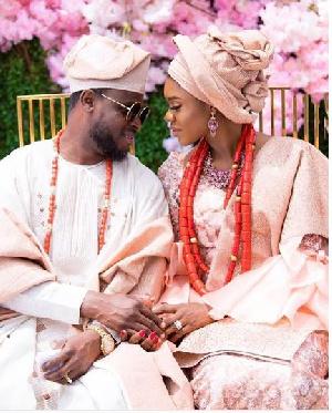 Becca with Nigerian husband, Oluwatobi Sani