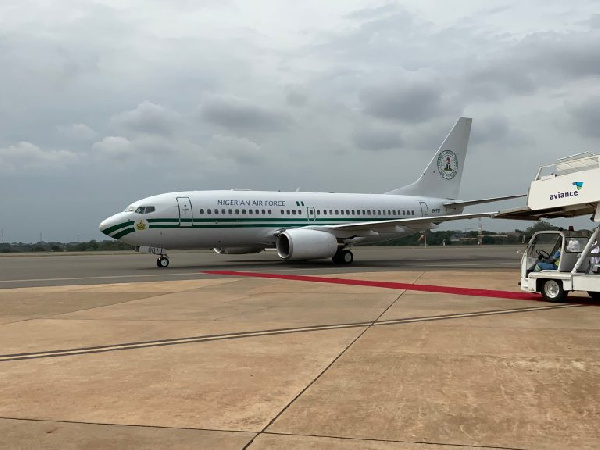 Photos: Ivory Coast, Nigeria, Niger show off presidential jets at ECOWAS summit in Accra. 55