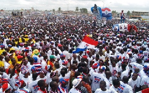 A photo of NPP supporters