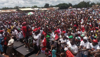 The group was first seen during the party's Unity Walk at Somanya (File Photo)
