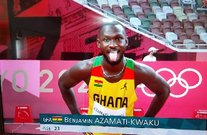 Ghanaian sprinter Benjamin Azamati