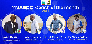 The four coaches have been shortlisted for the month of April