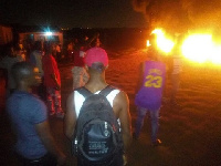 The residents burnt car tyres to register their anger over the poor road network