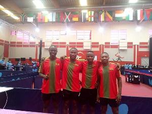 Ghana's Tennis team