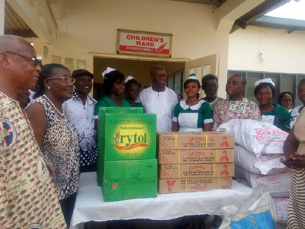 The former Vice President and his family donated some items to the Ho Municipal Hospital