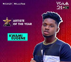 Kuami Eugene won VGMA's Artiste of the Year