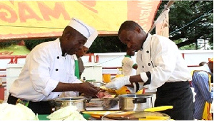 Some chefs at work