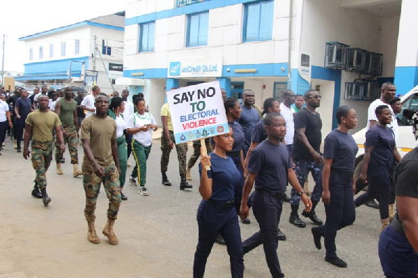 Security agencies to march for peace today