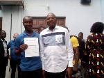 Coach Bankole (L) is one of the longest serving coaches of the Ghana Handball Association