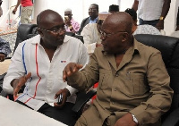 Nana Akufo-Addo with Dr.Bawumia in a conversation