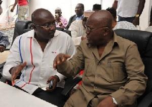 Dr Mahamudu Bawumia in a chat with Nana Akufo-Addo