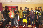 NSA officials with some of the boxers
