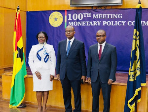 Governors of Bank of Ghana, Mrs Elsie Addo Awadzi, Dr Ernest Addison and Dr Maxwell Opoku Afari