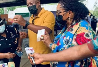 Former President John Dramani Mahama and his wife have been vaccinated