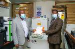 Left:Kwasi Poku Boateng, Director of USP Ghana with Professor Gyekye, Dean of the UG School of Pharm
