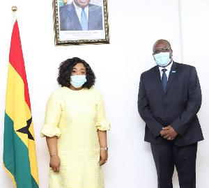Shirley Ayorkor Botchwey (left) With Dr Francis Kasolo