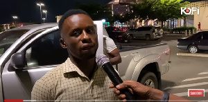 Eric Addo Gordon, brother of the suspect speaking to Kofi Adoma