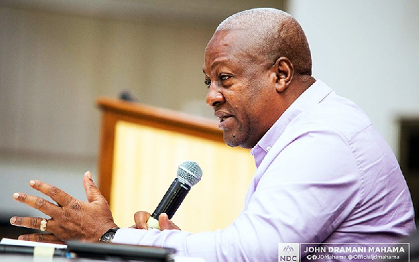 You said we are sitting on money so why are we broke? – Mahama asks Akufo-Addo