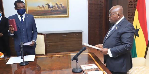 I will fight corruption like you fought the health crisis - Kissi Agyebeng to Akufo-Addo
