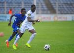 Sulley Muniru scores for FC Minsk against Vitebsk in Belarus