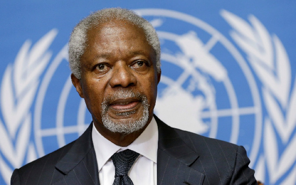 The late former UN Secretary General, Mr Kofi Annan