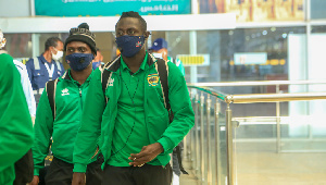 Striker Kwame Opoku And His Kotoko Teammates