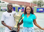 Samuel Antwi with his trophy