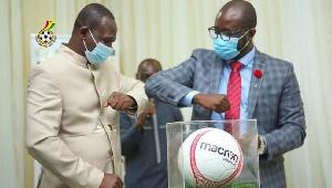GFA President, Kurt Okraku (right) at the signing ceremony