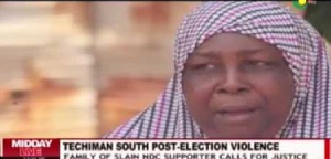 The mother of Alhassan Tajudeen calls for justice
