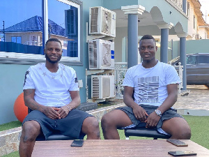 Mudasiru Salifu is on cloud nine after meeting his role model Mubarak Wakaso
