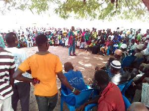 Participants at the community durbar at Tiisa on Ghana