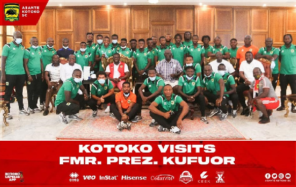 When Asante Kotoko team visited the former President