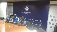 EC officials at the press conference