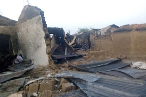 About 10 houses have also been reportedly torched
