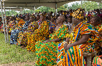 Chiefs of the Agotime Traditional Area during the festival wearing silk, cotton or rayon Kente cloth