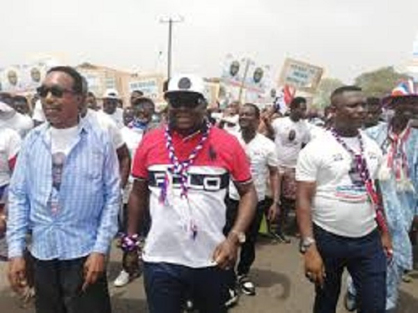 Mike Oquaye Jnr. whips up support for Akufo-Addo, Adwoa Safo in Dome-Kwabenya