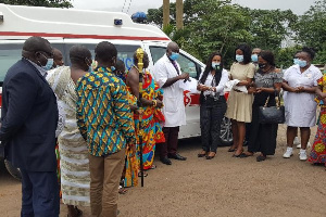 The medical superintendent, Dr. Frederick Yaw Sarpong  received the donation on behalf of the hospit