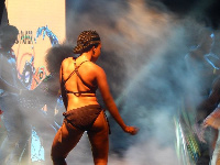 One of Lord Paper's dancers at the 'Loud in Gh' concert