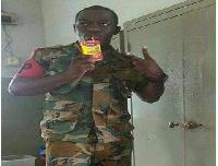 Private Osei Owusu of Ghana Military Police