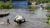 File photo: The heavy rain with left some parts of Accra flooded